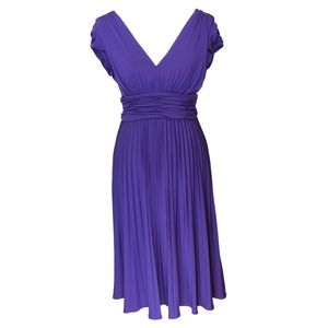 Pleated Purple Party Dress (say that 3x fast!)